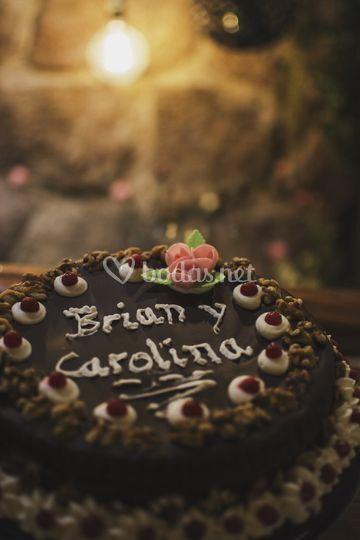 Tarta de Brian y Carolina