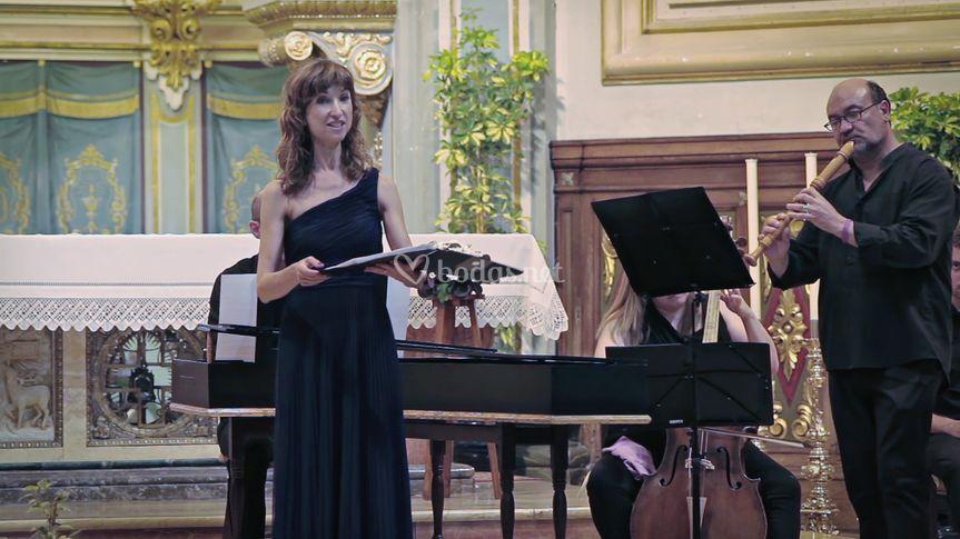 Soprano y flautista