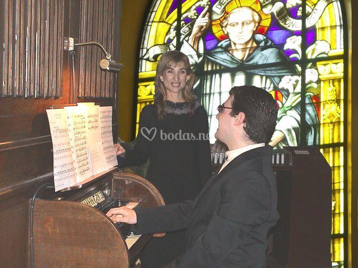 Dúo de soprano y organista