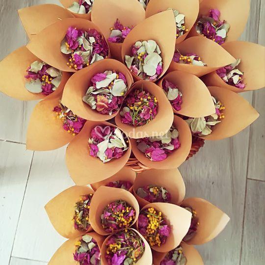 Pétalos de flor seca