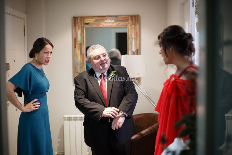 Asesorando en boda