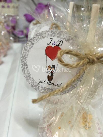 Cake pops, detalles boda