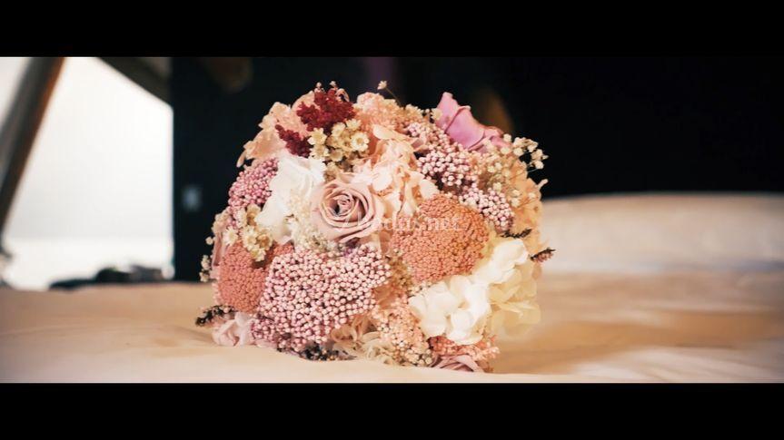 Fotograma del ramo de la novia