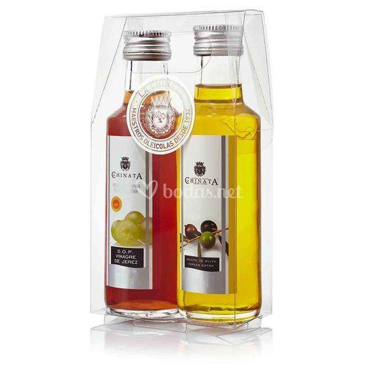 Estuche de Aceite de Oliva Virgen Extra y Vinagre