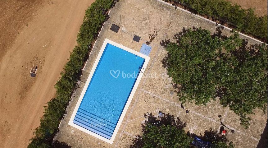 Finca, piscina