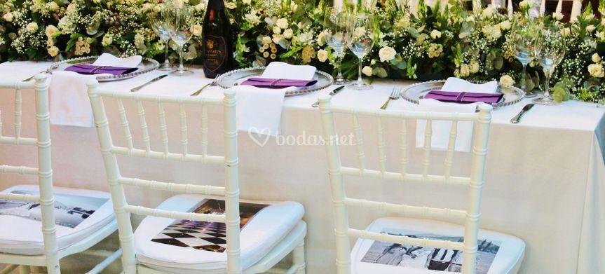Decoración de mesas elegantes