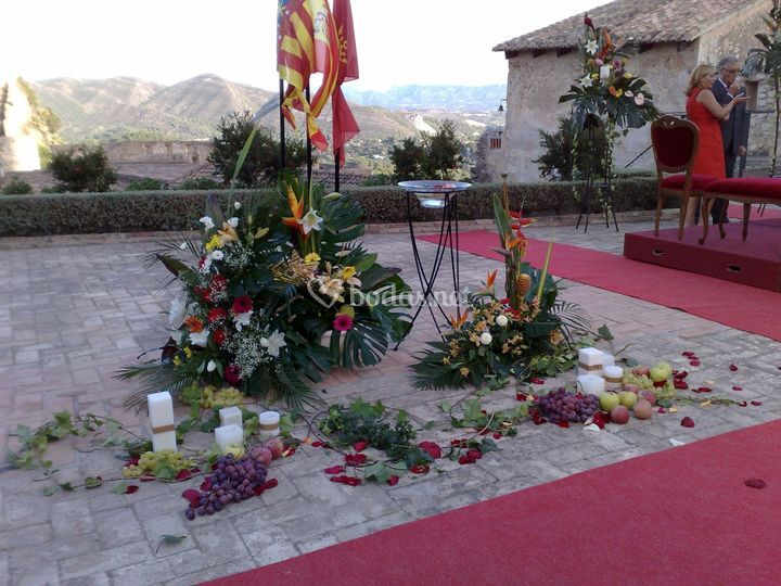 Decoración para la ceremonia