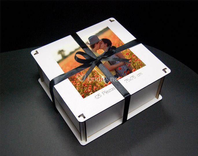 Caja puzzle-libro de firmas