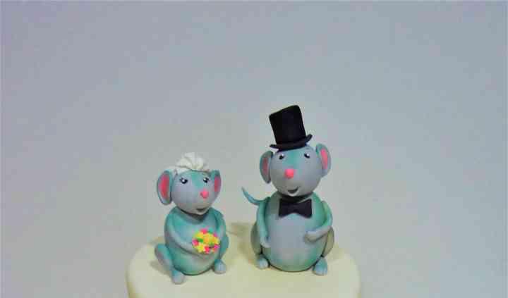 Tarta de boda de ratoncitos