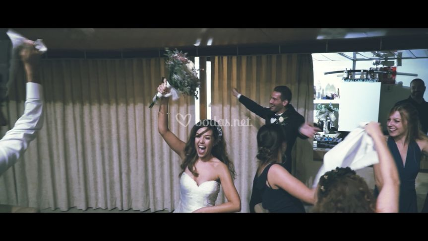Un frame de la boda