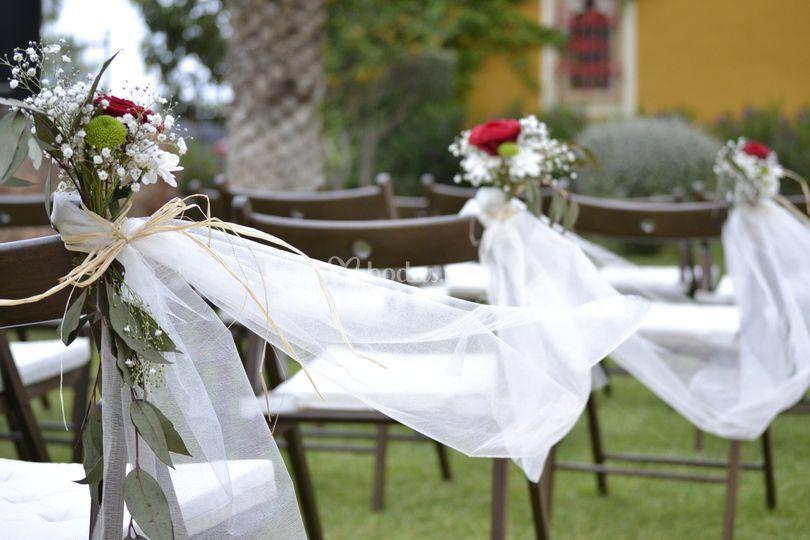 Adorno silla ceremonia civil