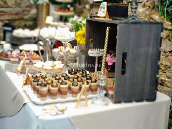 Mesa dulce de la boda de J&C