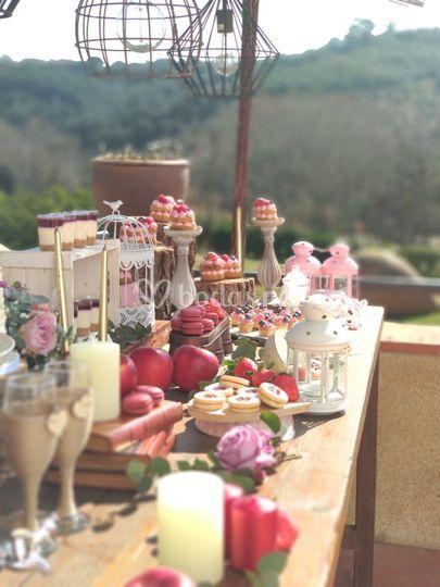 Mesa dulce de la boda de E&A