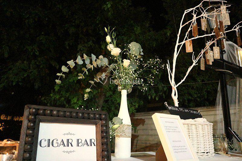 Decoración cigar bar