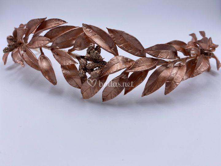 Corona de olivo rosa