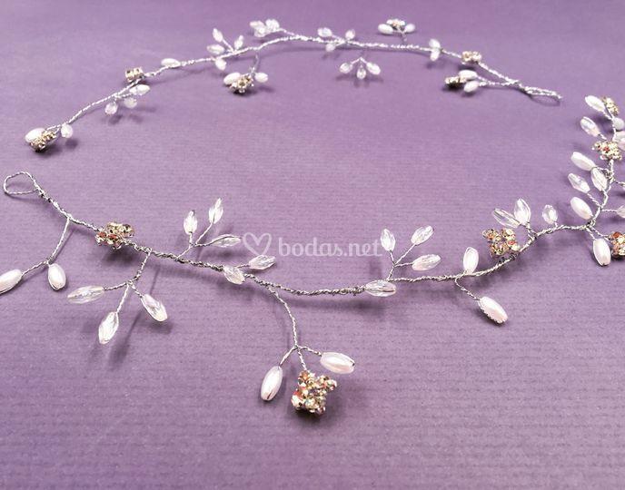 Doble tiara Cristal Nazaret