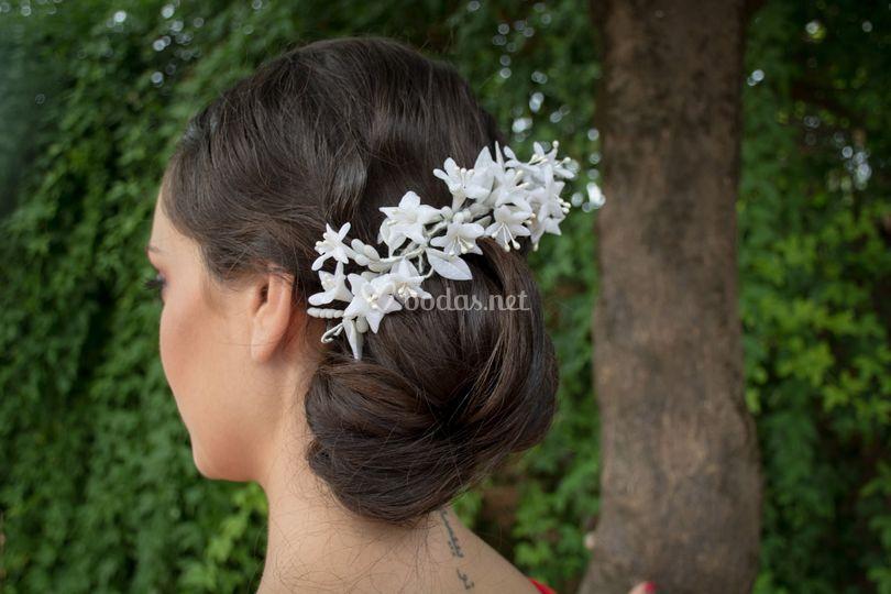 Tiara blanca Azahar