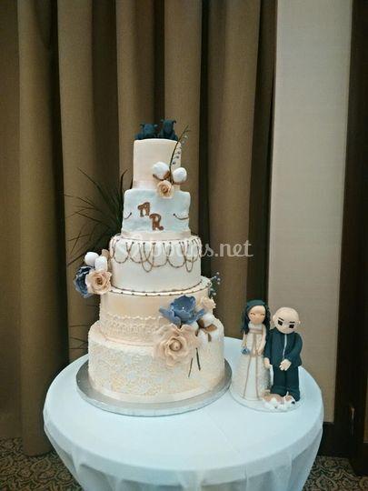 Tarta boda 5 pisos