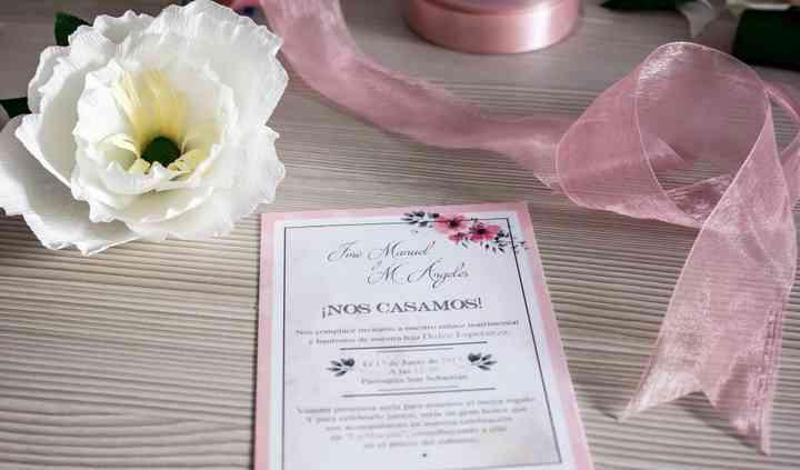 Invitación doble Rosa 10x15