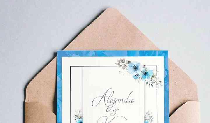 Invitación Azul 10x15
