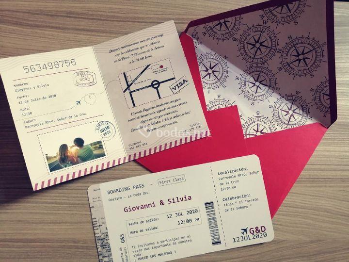 Invitación pasaporte interior
