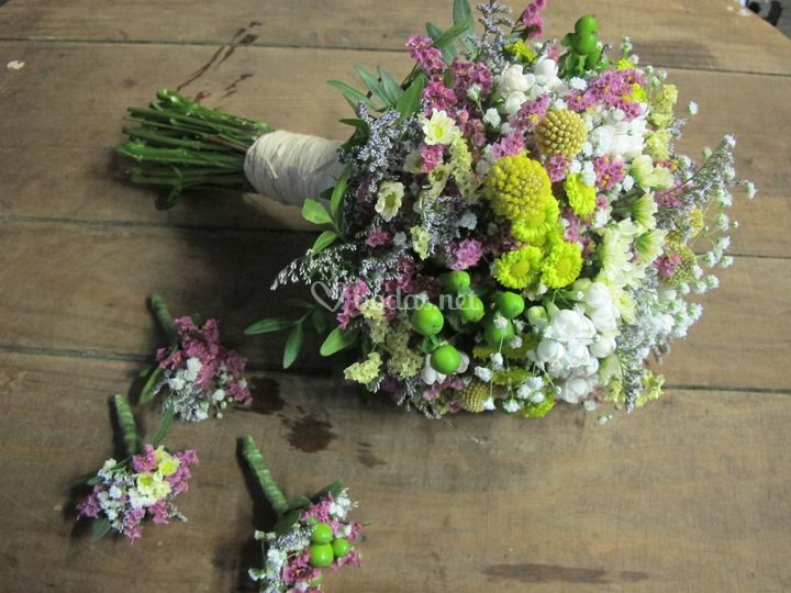 Ramo de novia flor silvestre