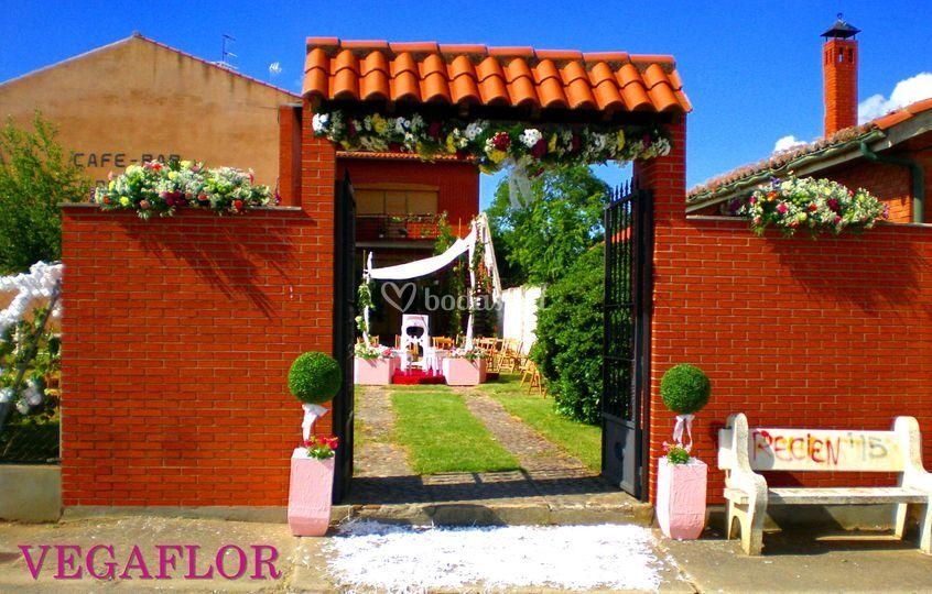 Decoración boda exterior