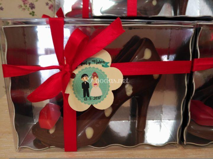 Minizapato de chocolate