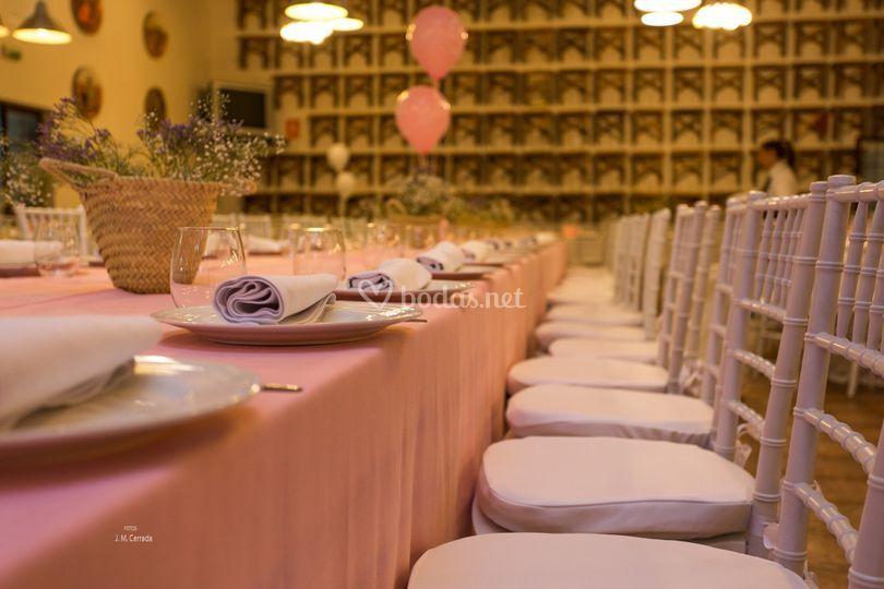 Las mesas del banquete