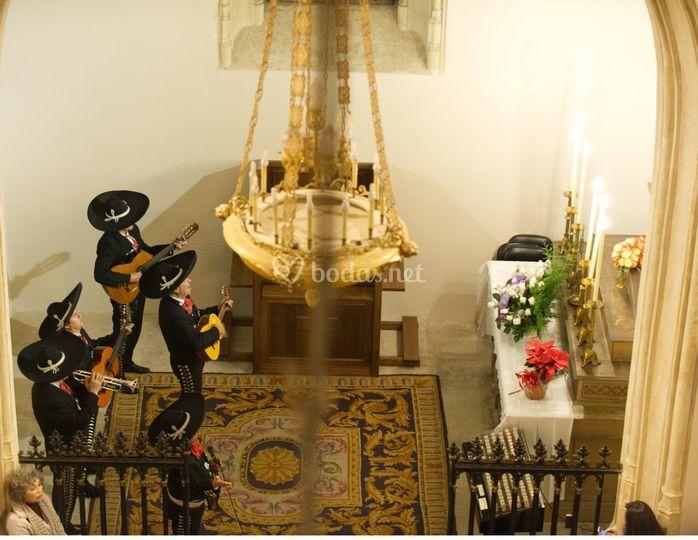Mariachis. Misa de Guadalupe
