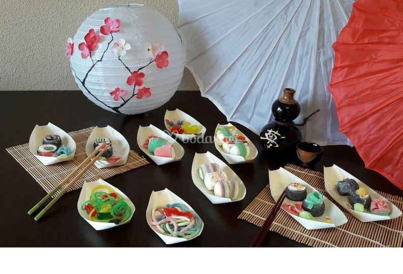 Candy bar de sushi