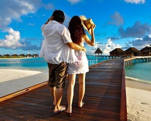 Amor en las Maldivas
