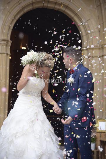 Salida de la boda