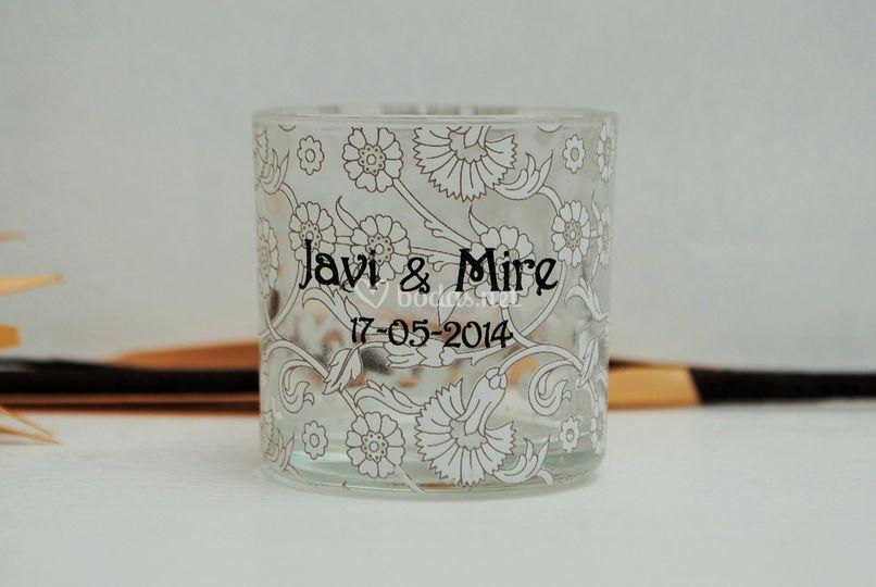 Chupito corto forro flor blanc