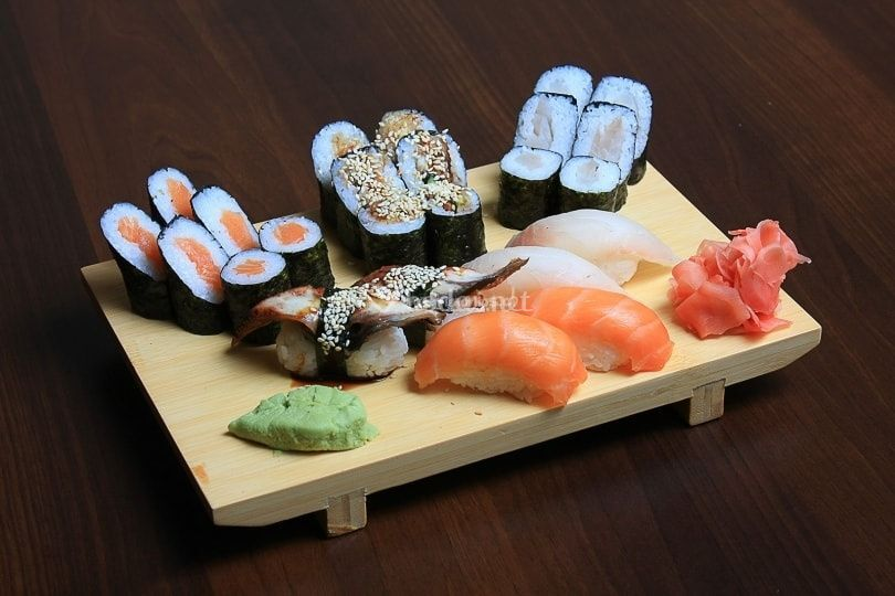 Menú de salmón