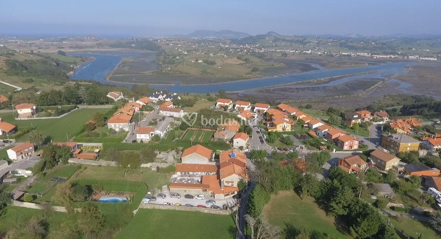Vista aérea posada Santa Ana