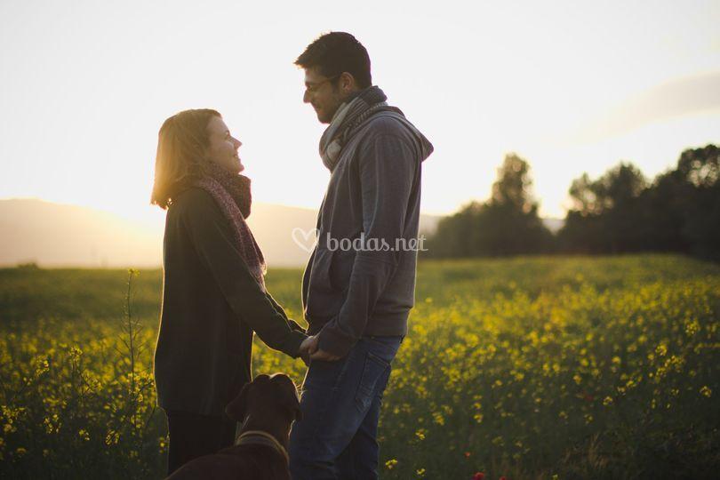 Fotos de pareja en el campo