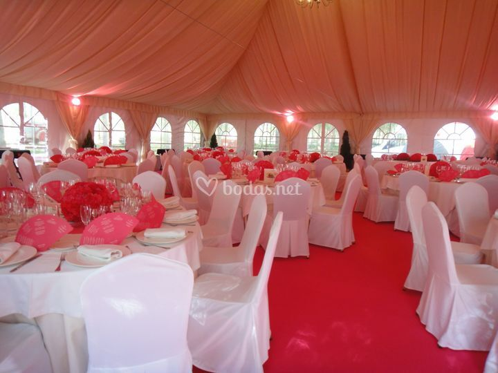 Carpa interior rosa
