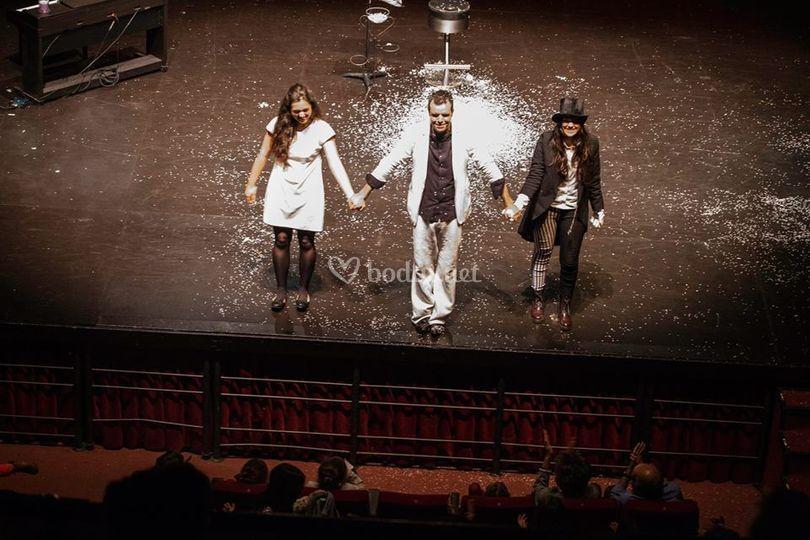 Actuación en el escenario