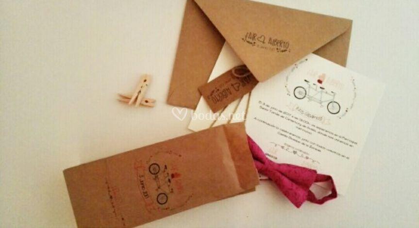 Invitación + packaging