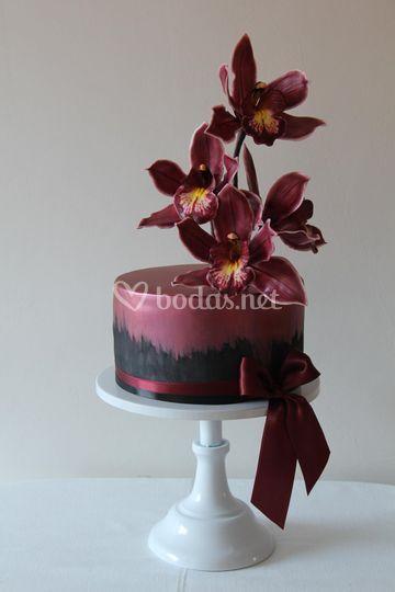 Cymbidium Orchid Cake