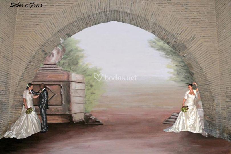La novia con el novio