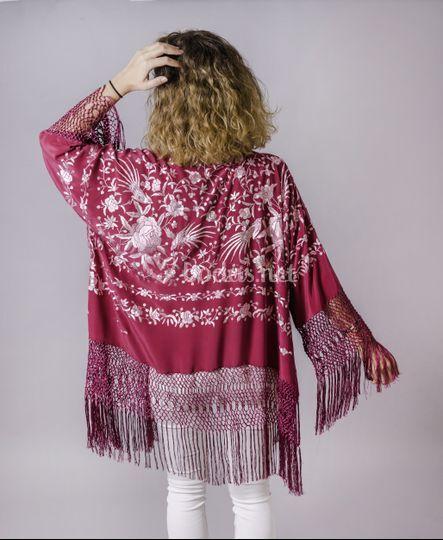 Chaqueta de seda natural