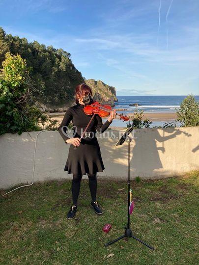Ceremonia con violín