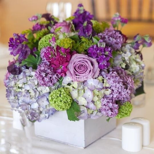Decoración floral mesa