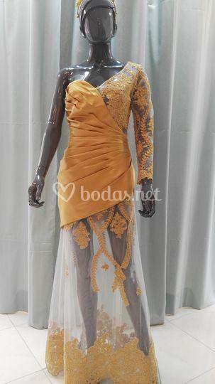 Vestido reina de fiestas