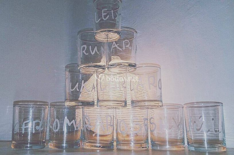 Vasos de chupito personalizados