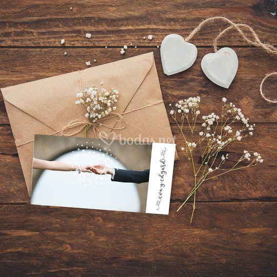 Invitación de boda - Manos
