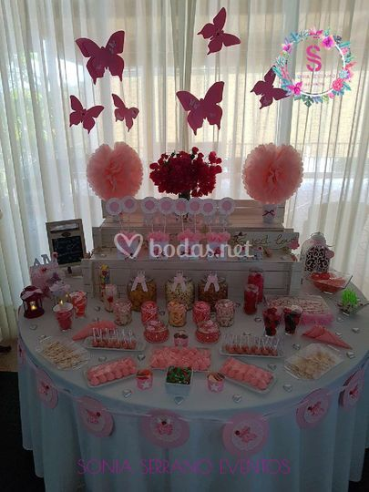Candy-bar tonos rosados