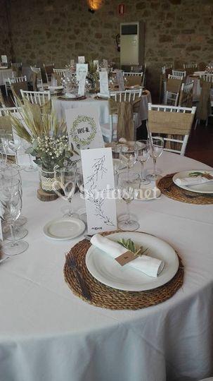 Decoración de las mesas 2